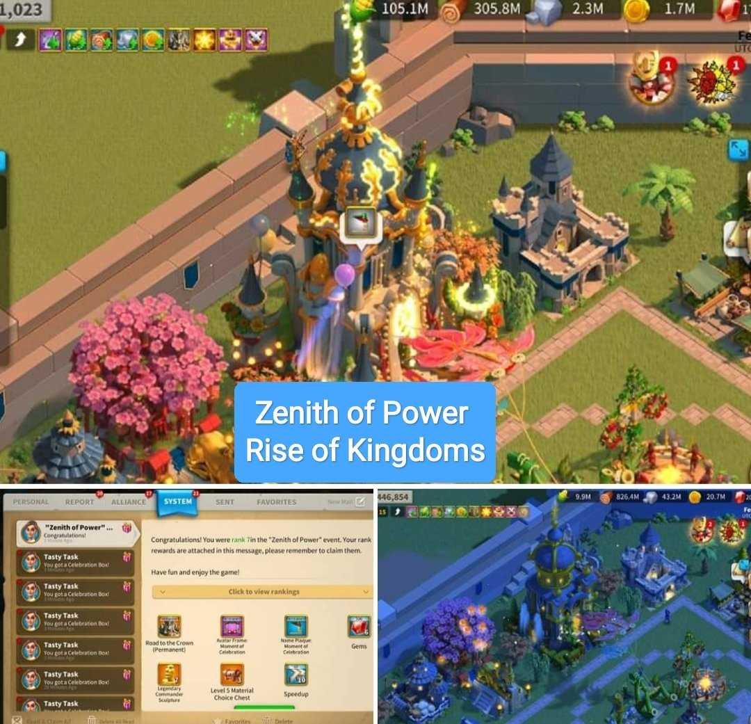 jadwal zenith of power rise of kingdoms