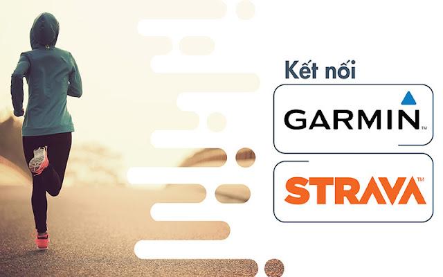 đồng bộ garmin connect và strava