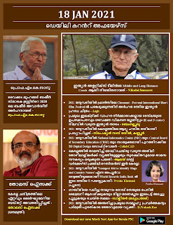 Daily Malayalam Current Affairs 18 Jan 2021
