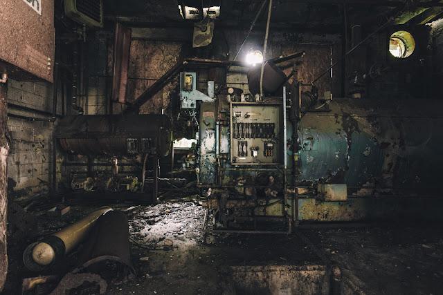 dirty maintenance boiler room