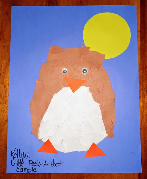 Learn about a Father's love when you read Will You Be Here? by Nadine Damo.  Includes a lesson plan and directions to make a torn paper owl craft.