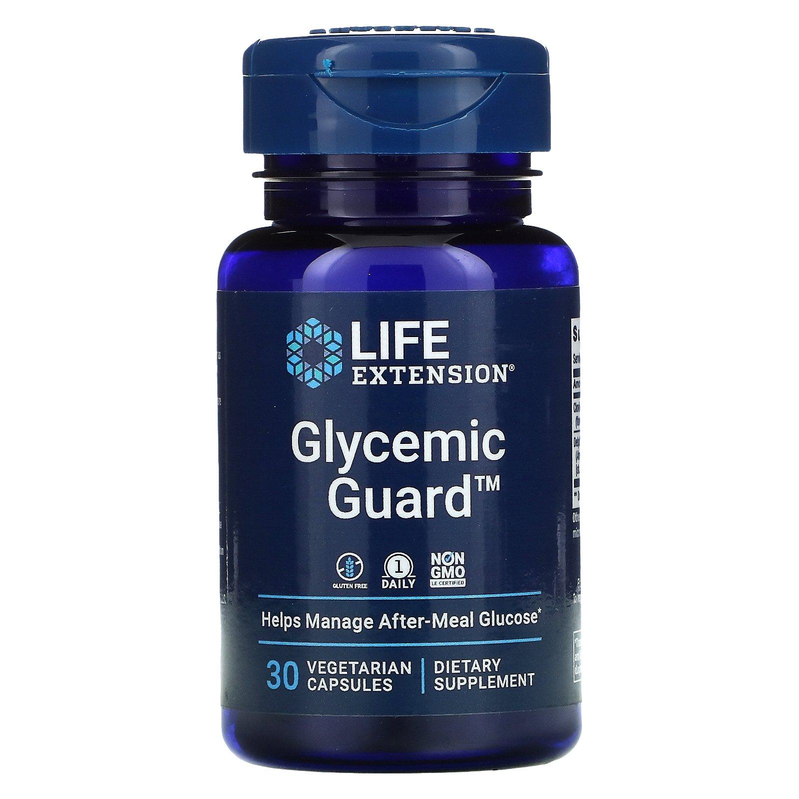 Life Extension, Glycemic Guard, 30 растительных капсул