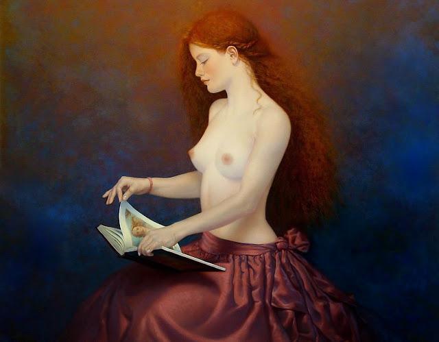Andrzej Malinowski - Nude reading girl