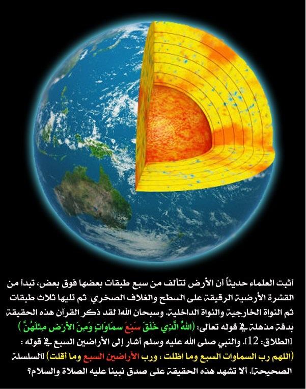 Geography Info طبقات الارض الحقيقة التى اشار اليها القران الكريم قبل 14 قرن