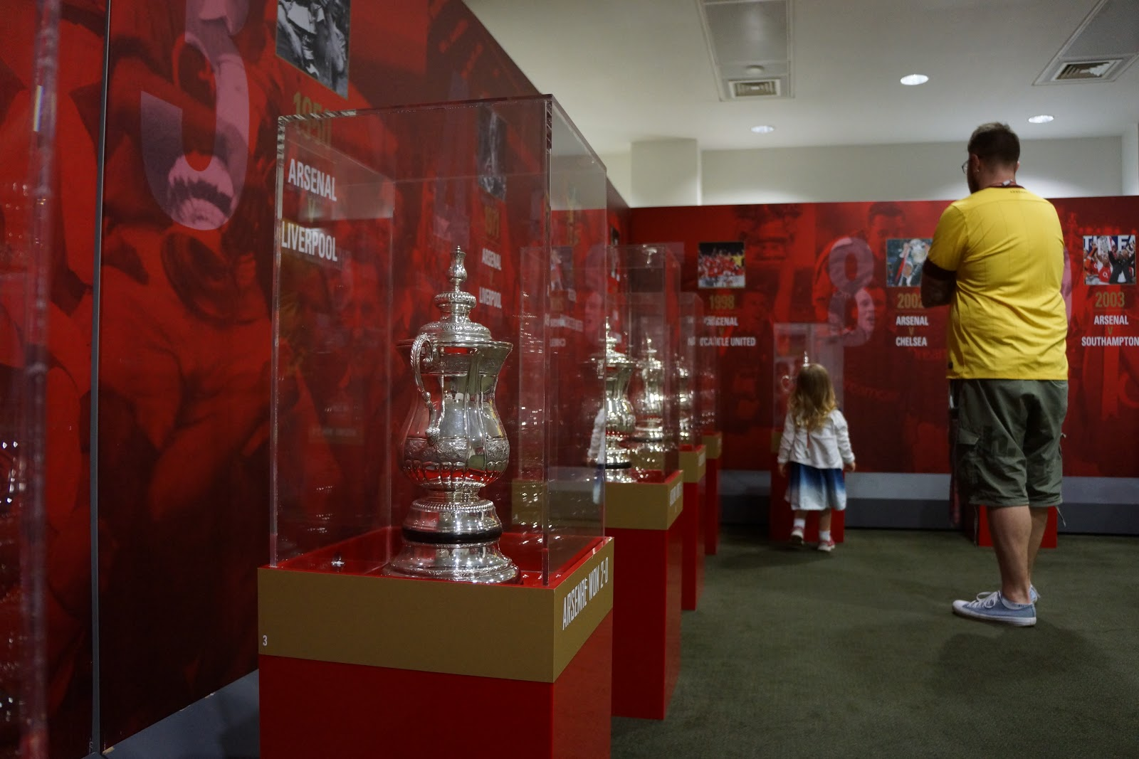 trophy room at Arsenal Stadium