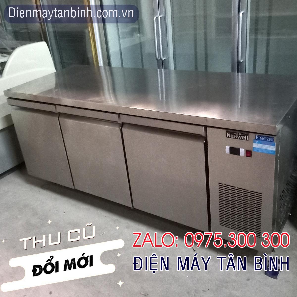 Bán thanh lý tủ cũ, cho thuê tủ bàn lạnh inox nhà hàng dài 1.8m