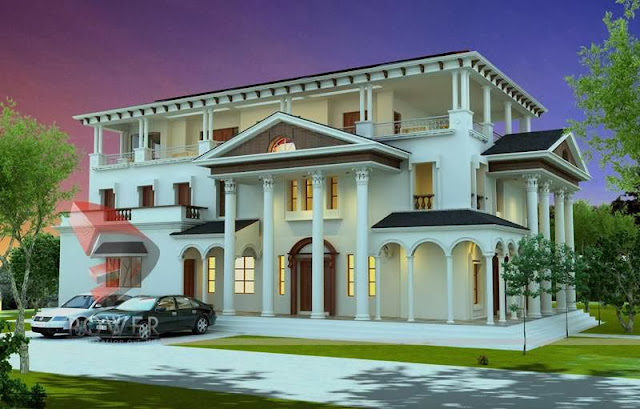 Exterior House Designs With Indian Style