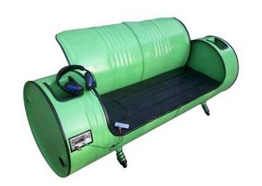 kursi drum unik warna hijau