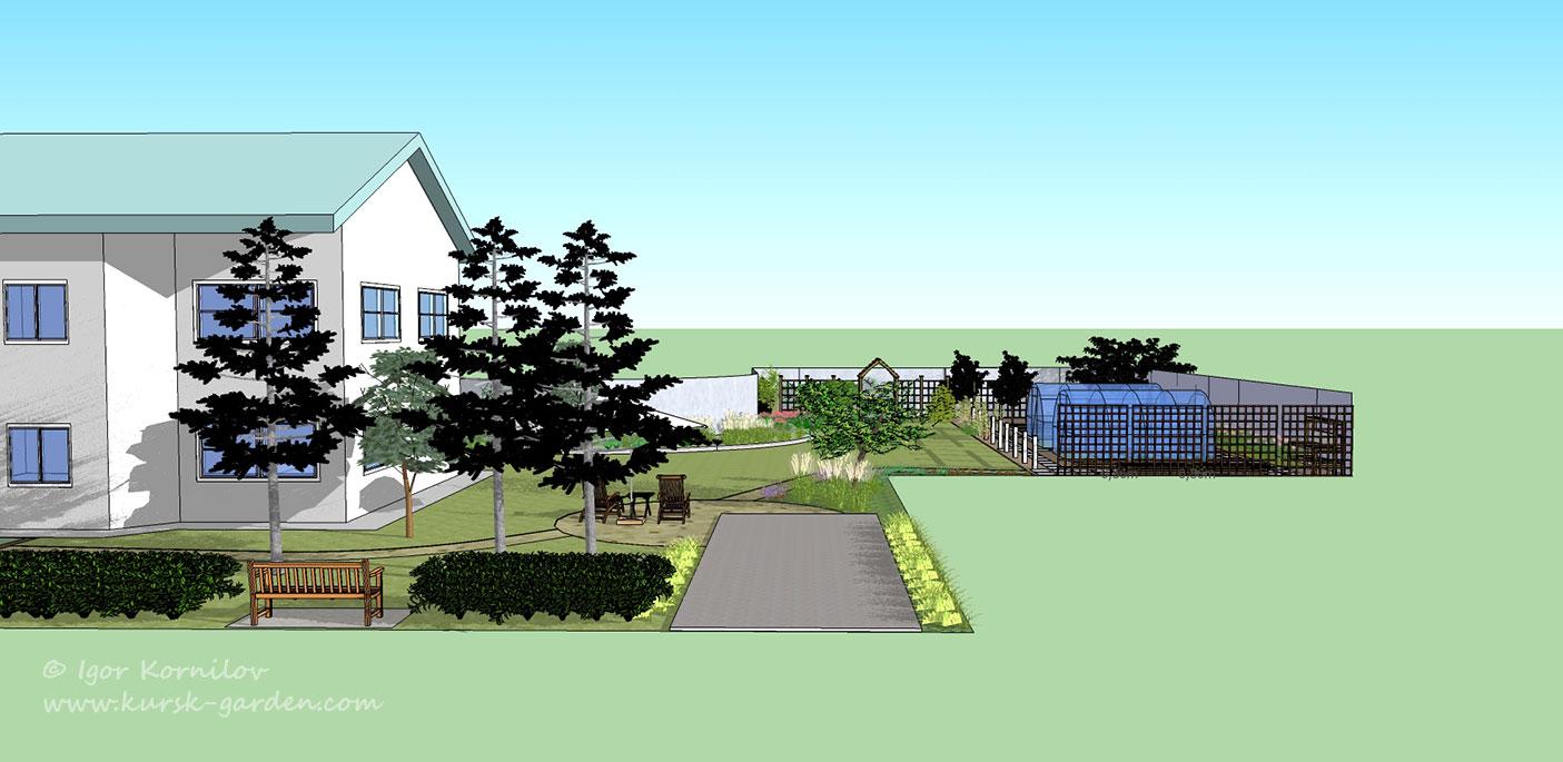 3D визуализация ландшафтного проекта