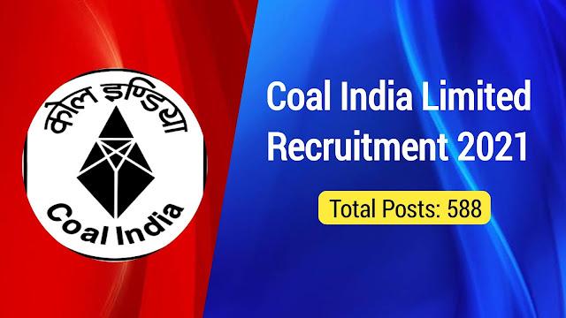 Coal India Limited Recruitment 2021: