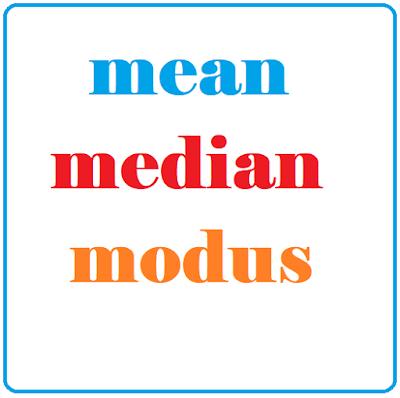 Cara Mencari Mean, Median, dan Modus