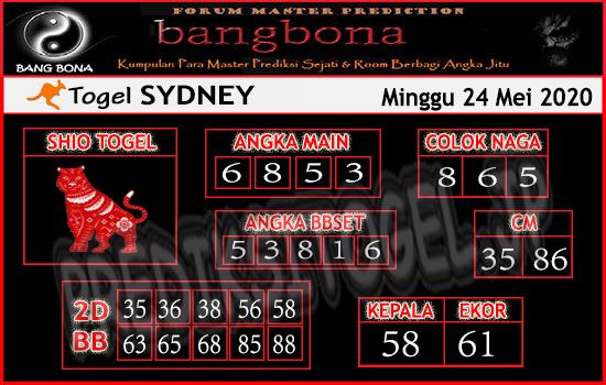Prediksi Togel Sydney Minggu 24 Mei 2020 - Bang Bona