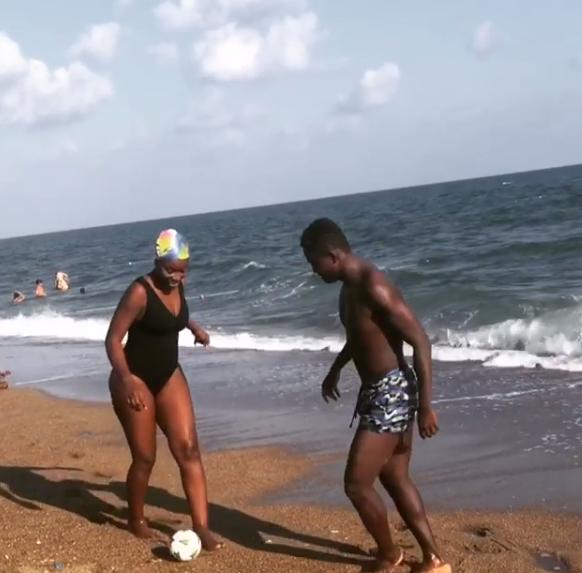 Omega Inkoom sizzles in new beach photos