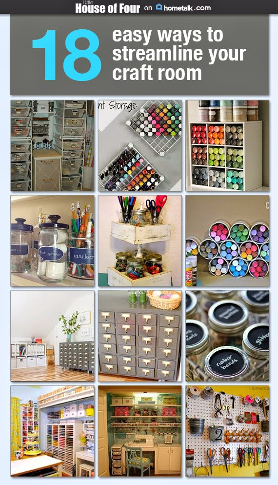 18 Ways to Streamline Your Craft Room.