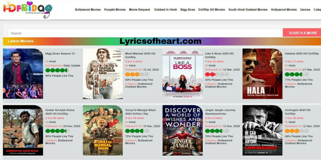 HdFriday - Download Free All Latest Bollywood, Hollywood, Tamil, Telugu, Kannada Movies And Web Series