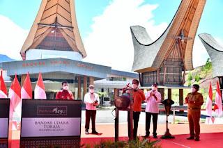 Presiden RI Joko Widodo Meresmikan Bandar Udara  Toraja, di Kabupaten Tana Toraja, Sulawesi Selatan Dan Bandara Pantar NTT