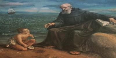 Santo Agostinho e o menino na areia