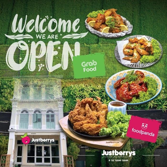 Justberrys Dessert House Menu Snacks Chicken Wings
