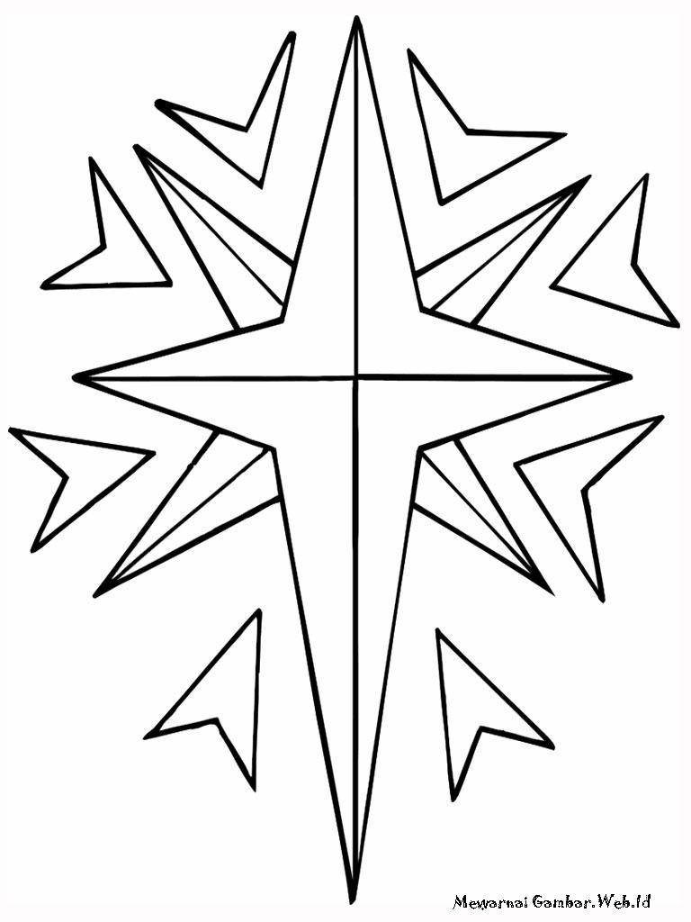 Mewarnai Gambar Bintang