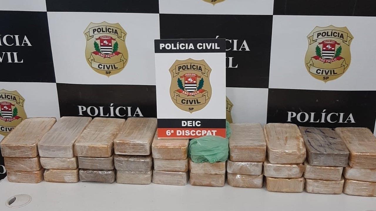 Motorista é preso com 30 tabletes de cocaína em Nova Odessa