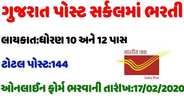 Gujarat Post Circle Sports Quota Recruitment 2020