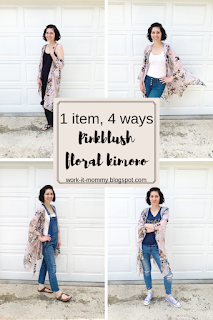 Summer Style with Pinkblush // 1 piece, 4 ways {how to style a kimono} on Work it Mommy blog