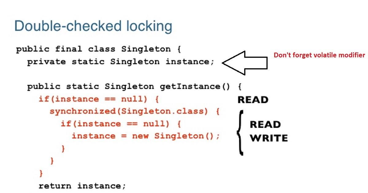 Thread-safe Singleton in Java using Double Checked Locking Idiom