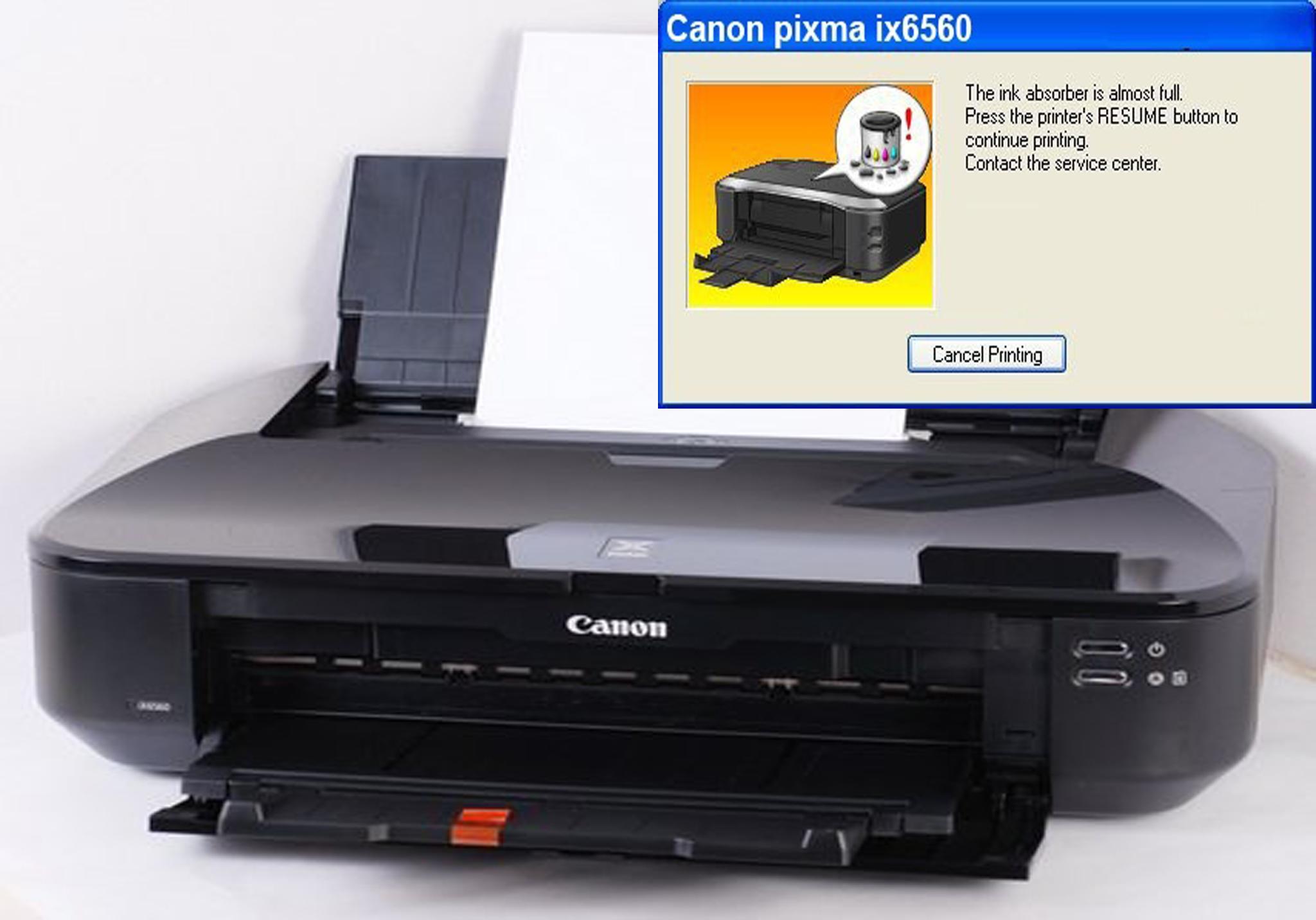Cara Reset Printer Canon IX 6560