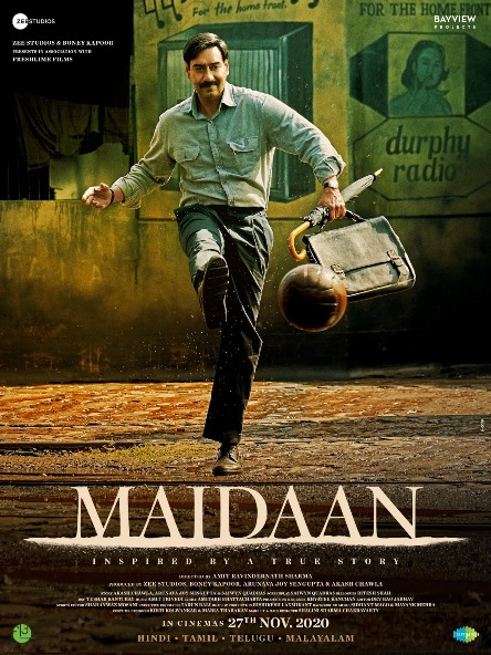 full cast and crew of Bollywood movie Maidaan 2020 wiki, movie story, release date, Maidaan Actor name poster, trailer, Video, News, Photos, Wallpaper, Wikipedia