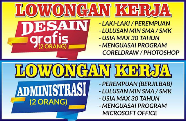 Dibutuhkan Segera 2 Posisi untuk bekerja di DWARNALAND PRINTING SOLUTION. www.kraksaan-online.com