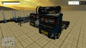 Volvo FMX Grumier trucks + trailers pack