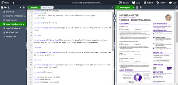 Cara Membuat CV Di Latex Melalui Website Overleaf
