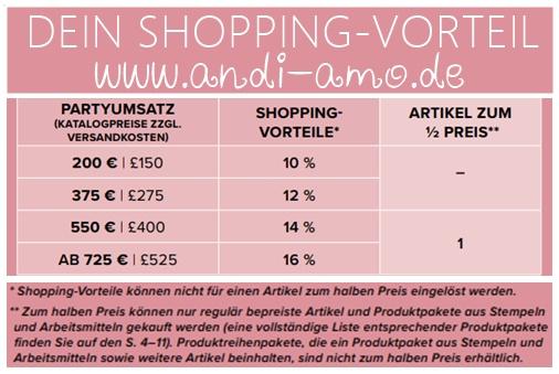 Shopping-Vorteile Stampin Up Freibetrag andi-amo