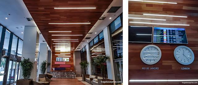 Lobby e recepção do Hotel Prodigy Aeroporto Santos Dumont