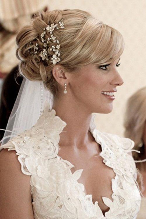 Pleasant Adorable Bridal Hairstyles With Bangs Short Hairstyles Gunalazisus