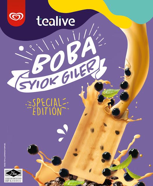Wall's Berganding Tenaga Dengan Tealive Untuk Kolaborasi Pertamanya   Memperkenalkan Wall's Special Edition Tealive Boba Ice Cream