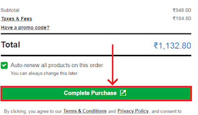Complete the domain purchase from Godaddy