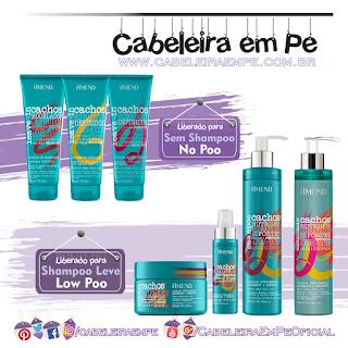 Linha Cachos - Amend (Shampoo, Condicionador, Máscara e óleo liberados para Low Poo) - (Leave ins liberados para No Poo)
