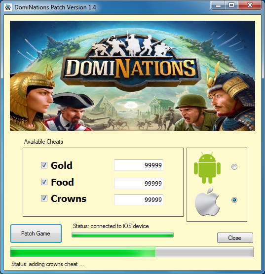 Mobi <b>Game</b> Patch: <b>Dominations</b> Patch For Unlimited Gold, Food And ...