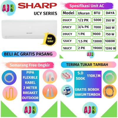 Daftar Harga AC Sharp Semarang Gratis Pemasangan