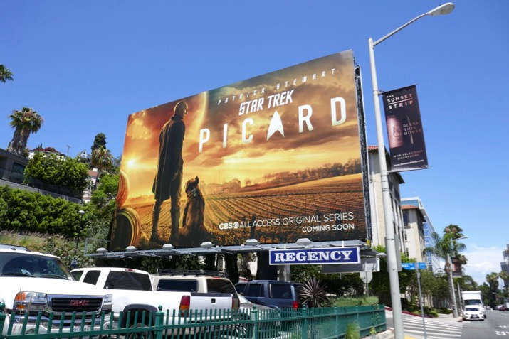 Star Trek Picard series launch billboard