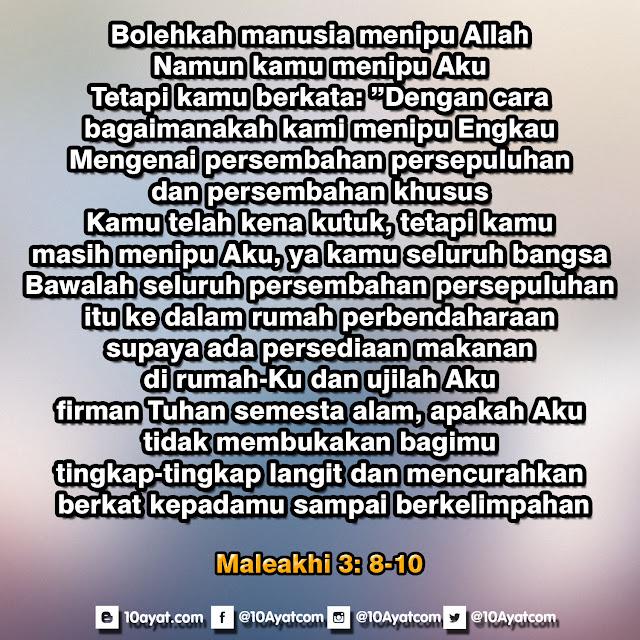 Maleakhi 3: 8-10