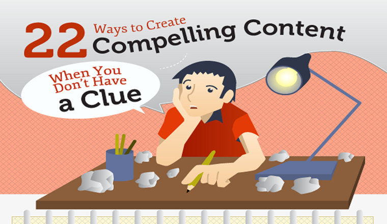 22 Ways to Create Compelling Content When You Don't Have a Clue #infographic
