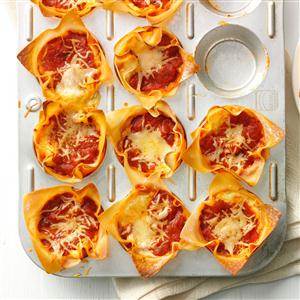 Muffin Tin Lasagnas ~ source:tasteofhome.com