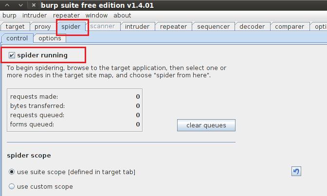 Security G33k: SPIDERING Website using Burp Spider