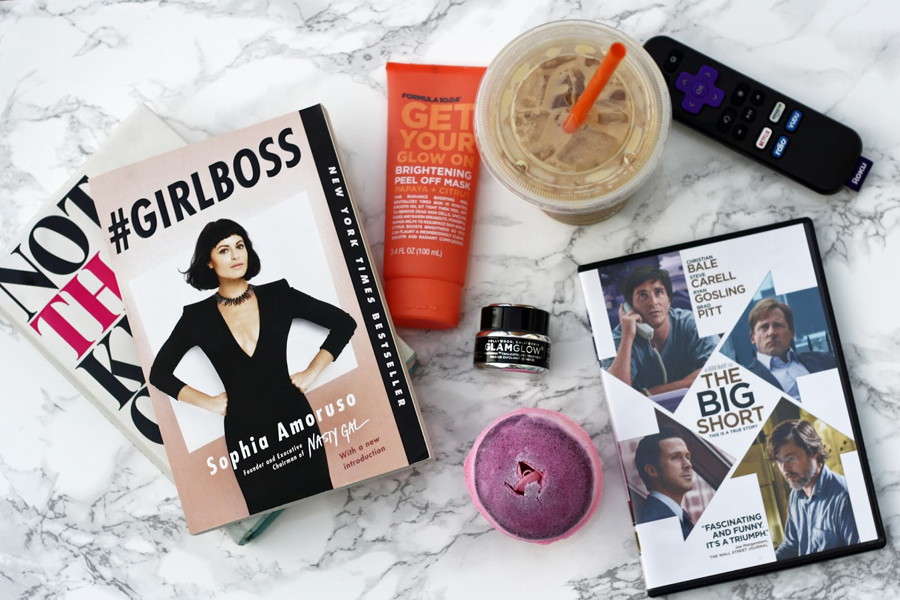 College Lifestyle, College Blogger, Lifestyle Blogger, Girlboss, Formula 10.0.6, Glamglow, The Big Short, Dunkin Donuts, Roku, Lush Bath Bomb