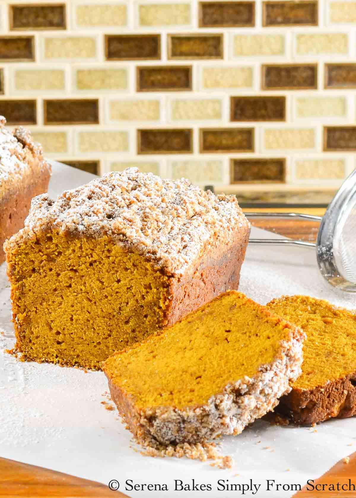Pumpkin Bread with Streusel