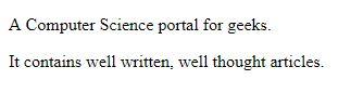 penggunaan paragraf dengan menggunakan elemen <p>