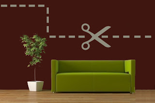 Idea creativa para decorar la pared usando ploter y corte de vinil