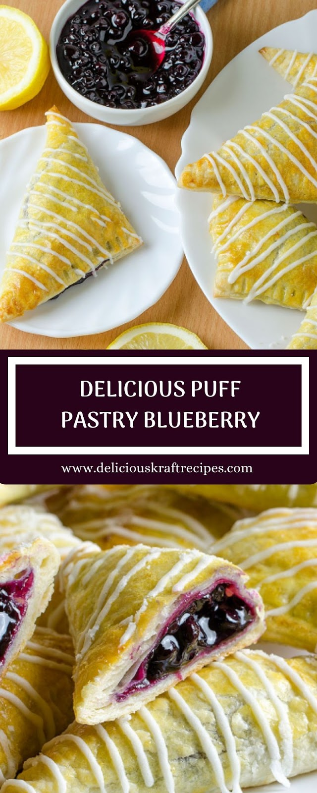 DELICIOUS PUFF PASTRY BLUEBERRY
